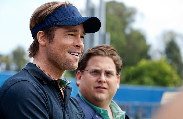 "Brad Pitt and Jonah Hill in ""Moneyball"""