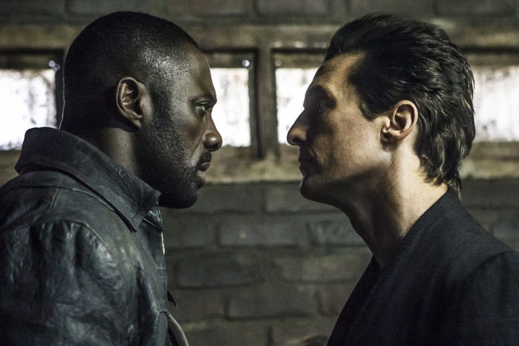 Idris Elba (l) and Matthew McConaughey (r) face off in The Dark Tower
